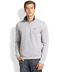 Lacoste Half-Zip Pullover Sweater - Lyst