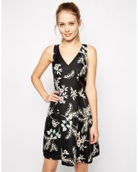 Oasis Trailing Flower Jacquard Skater Dress - Lyst