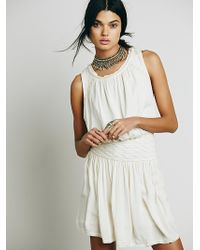 Free People Womens Black Sands Dress - Lyst