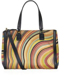 Paul Smith Swirl Stripe Double Zip Tote - Lyst