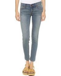Free People Roller Crop Skinny Jeans Abbie Wash - Lyst