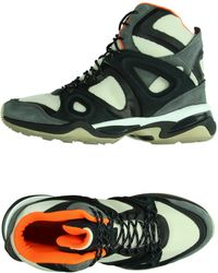 Alexander McQueen x Puma | Run Mesh and Leather High-Top Sneakers | Lyst