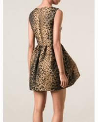 RED Valentino Leopard Jacquard Skater Dress - Lyst