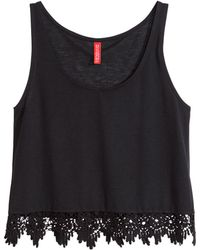 H&M Short Sleeveless Top - Lyst
