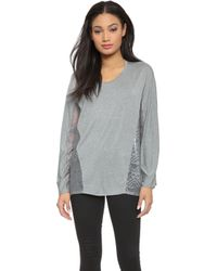 Apres Ramy Brook - Frankie Pullover Top - Heather Grey/Slate - Lyst
