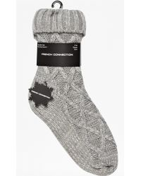 French Connection - Sam Knitted Socks - Lyst