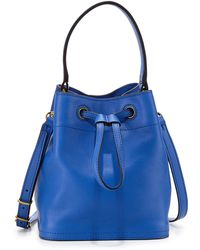 Tory Burch Mini Leather Bucket Bag - Lyst