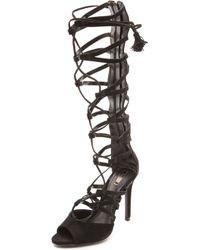 Schutz Zoneide Suede Gladiator Sandals - Black - Lyst