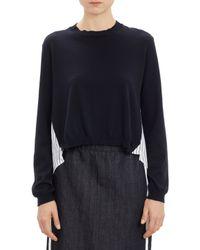 Marni Stripe Poplin-Back Sweater - Lyst