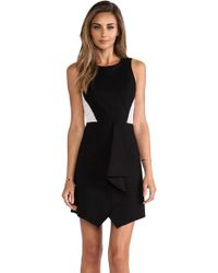 Tibi Ponte Eyelet Combo Dress - Lyst