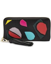 Fossil | Sydney Applique Zip Clutch Wallet | Lyst