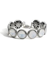 John Hardy Palu Disc Bracelet white - Lyst