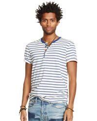 Denim & Supply Ralph Lauren Short-Sleeved Striped Flag-Placket Henley - Lyst