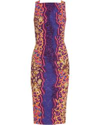 Peter Pilotto Kia Printed Crepe Dress - Lyst