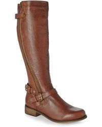 Steve Madden Brown Synicle Riding Boots - Lyst