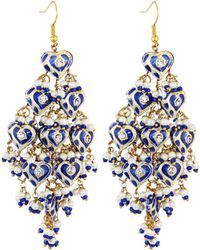 Chamak by Priya Kakkar - Diamond-shape Tiered Chandelier Earrings - Lyst