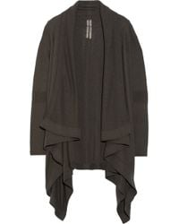 Rick Owens Draped Boiled-Cashmere Cardigan - Lyst