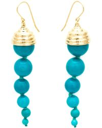 Aurelie Bidermann Long 'Lakotas' Earrings blue - Lyst