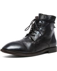Marsell Combat Leather Boots - Lyst