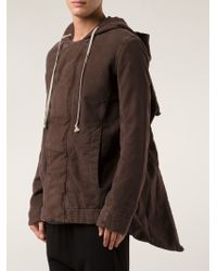DRKSHDW by Rick Owens Hooded Jacket - Lyst