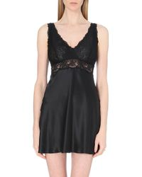 Nk Imode Silk-Satin And Lace Chemise - For Women - Lyst