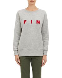 Band Of Outsiders Gray Fin Sweatshirt - Lyst
