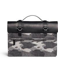 Seventy Eight Percent 'Dimitri' Medium Camouflage Canvas Satchel - Lyst
