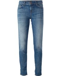 J Brand Blue Tapered Jeans - Lyst