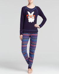 Kensie - Rabbit with Glasses Pyjama Set - Lyst
