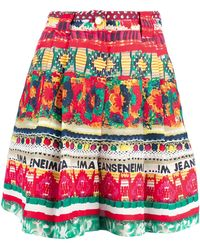 Moschino Abstract Print Shorts multicolor - Lyst