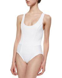 Meskita - Scoop-neck One-piece Swimsuit - Lyst