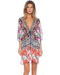Clover Canyon Floral Scarf Print Cover Up - Lyst