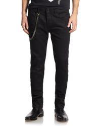 Diesel Black Gold Straight-leg Biker Jeans - Lyst