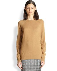 Alexander Wang Sheer-Paneled Oversized Sweater - Lyst