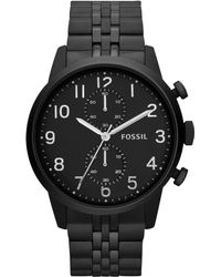 Fossil Mens Chronograph Townsman Blacktone Stainless Steel Bracelet Watch 44mm - Lyst
