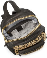 Ash - Domino Studded Leather Backpack - Lyst