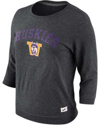 Nike Womens Threequartersleeve Washington Huskies Tshirt - Lyst