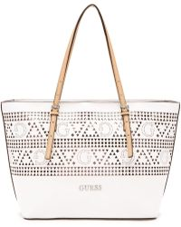 Guess Delaney Small Classic Perforated Tote - Lyst