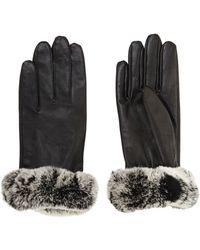 BCBGMAXAZRIA Fur Cuff Gloves - Lyst