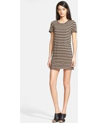 Enza Costa Stripe Jersey T-Shirt Dress - Lyst
