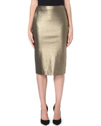 Max Mara Cracked-effect Stretch-crepe Pencil Skirt - Lyst