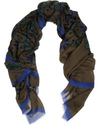 Burberry Prorsum Floralprint Wool and Silkblend Scarf - Lyst