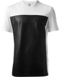 Neil Barrett Black Panel Tshirt - Lyst