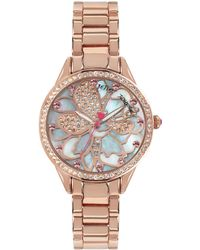 Betsey Johnson - Rose Goldtone Layered Flower Dial Watch - Lyst
