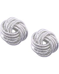 Nine West - Silver-tone Love Knot Stud Earrings - Lyst