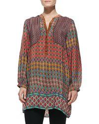 Tolani Priscilla Circleprint Silk Tunic - Lyst