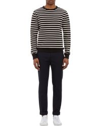 A.P.C. Nautical Stripe Pullover Sweatshirt - Lyst