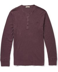 Burberry Brit Cotton and Woolblend Henley Tshirt - Lyst