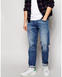 Diesel Jeans Belther 665H Slim Fit Light Wash - Lyst