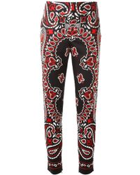 Moschino Paisley High Waisted Trousers - Lyst